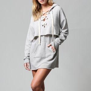 FATE Grey Hoodie Dress
